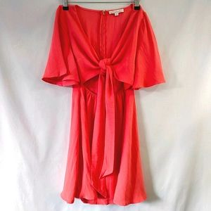 Mooloola Sz8 Coral Open Midriff Dress